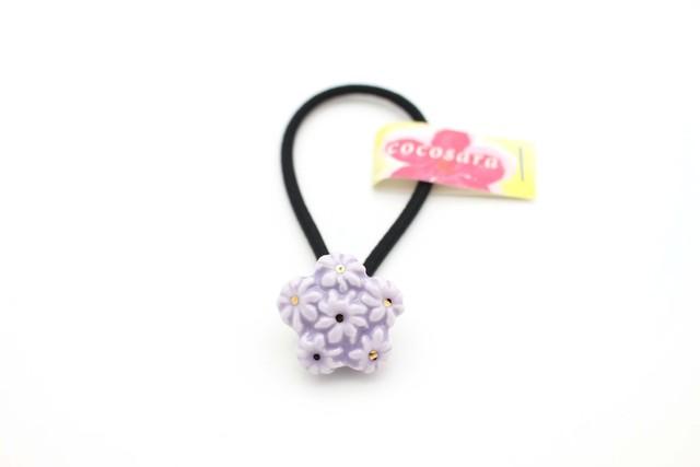 有田焼ヘアゴム flower ⑰ 薄紫