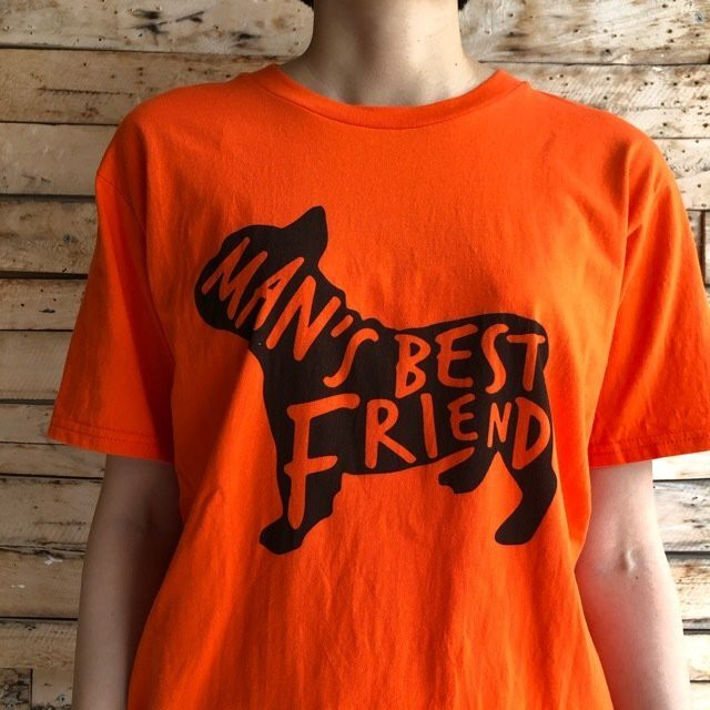 TOPANGA Lady's Best Friend Tシャツ オレンジ