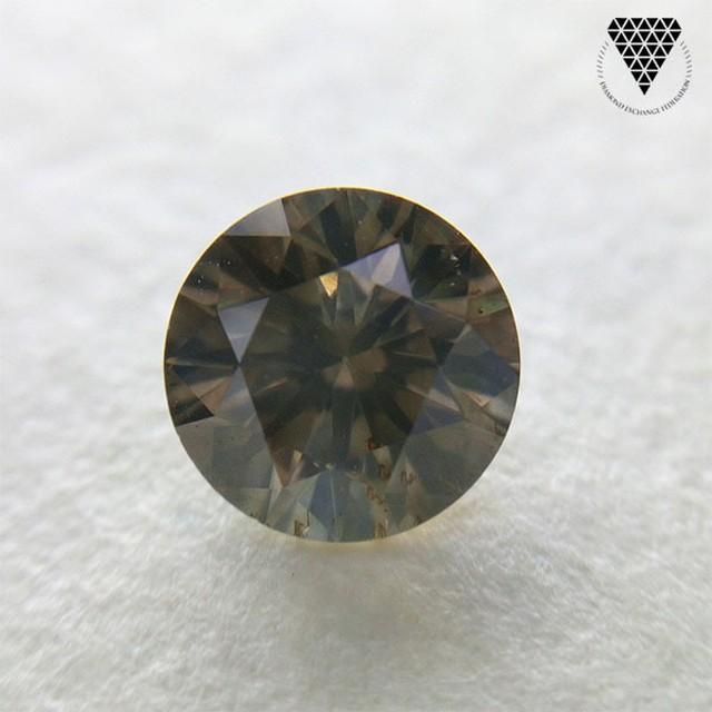 0.586 ct Fancy Dark Brown Yellow 天然 ダイヤモンド ルース 裸石