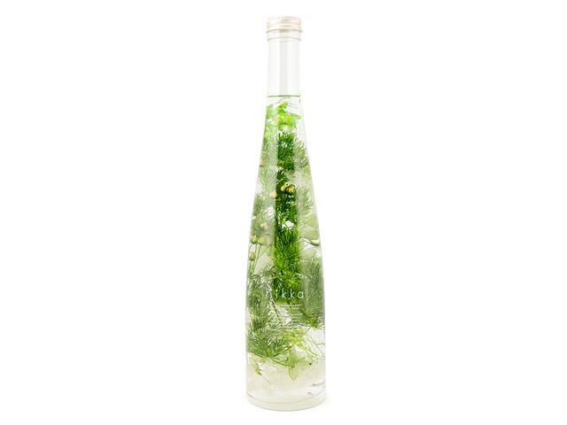hikka ハーバリウム ワインボトル グリーン
