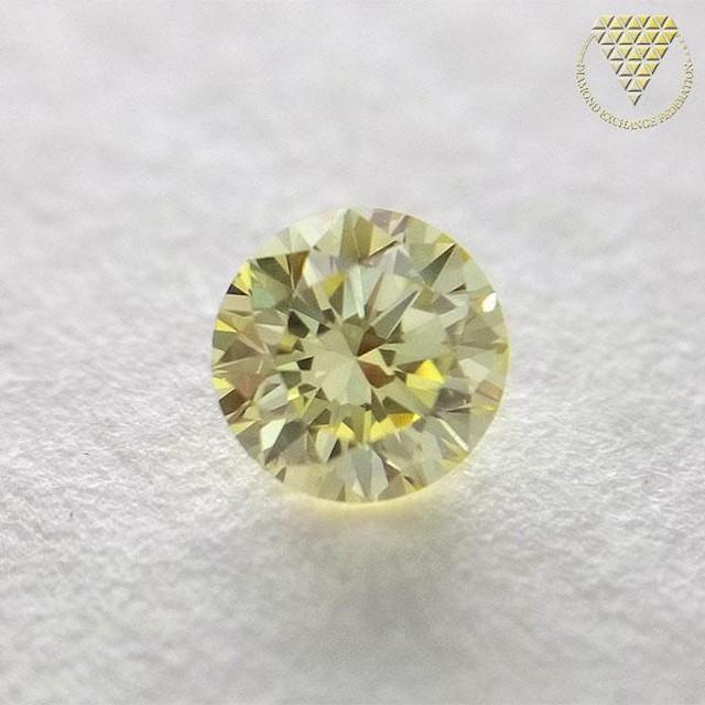 0.181 ct F. Yellow VS1 天然 イエロー ダイヤモンド
