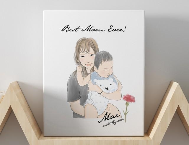 【母の日】似顔絵ギフト