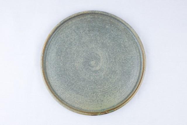 吉永哲子 錆浅葱8寸皿