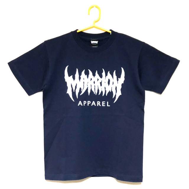 MARRION APPAREL LOGO  T-shirts  (navy×white)