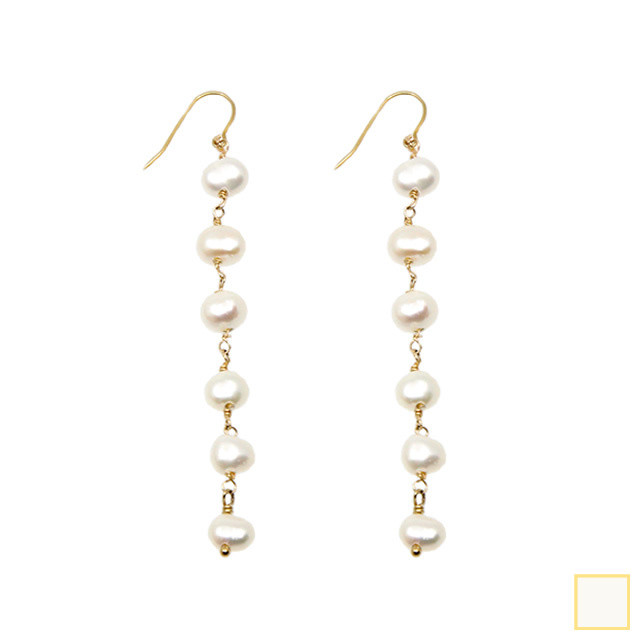 baroque pearl long pierce&earring