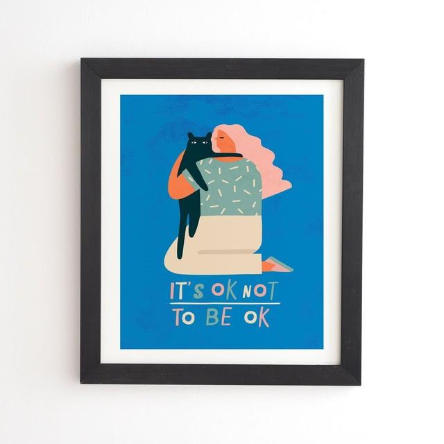 フレーム入りアートプリント ITS OK NOT TO BE OK BY TASIANIA【受注生産品: 10月下旬頃入荷分 オーダー受付中          】