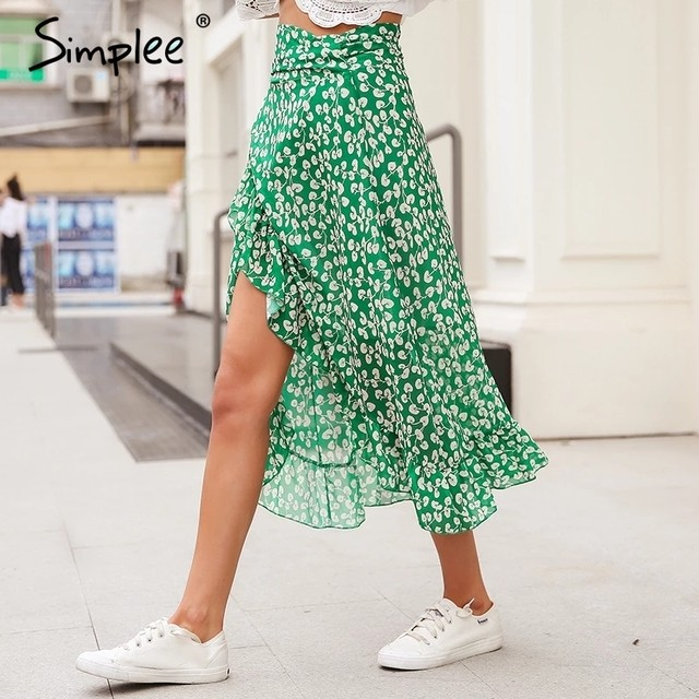 Iong green skirt❤