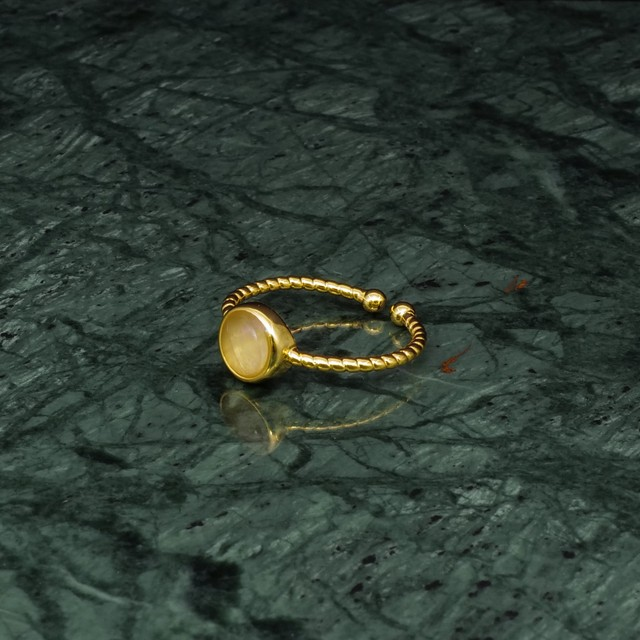 SINGLE MINI STONE RING GOLD 014