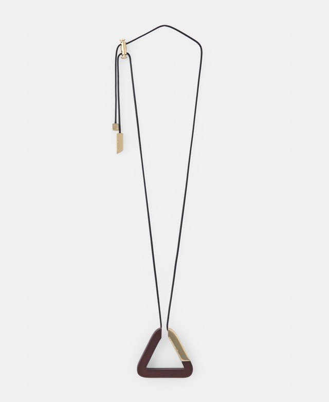 TRIANGULAR NECKLACE IN WOOD AND METAL [226671738111]