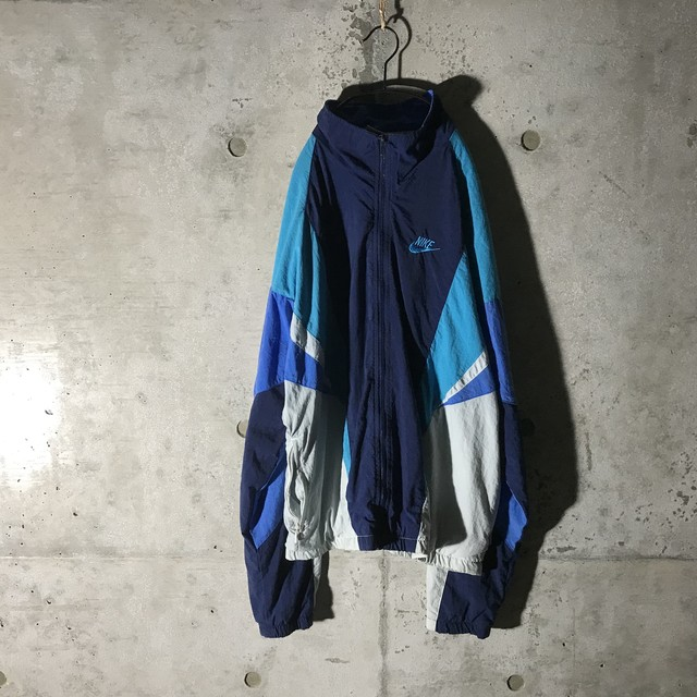 [ NIKE 90s ] flesh colour designed nylon jacket
