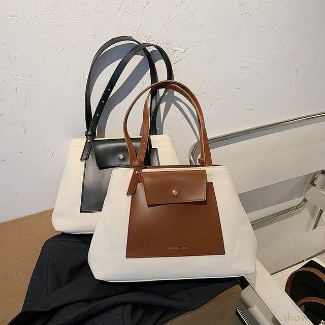 【バッグ】配色合わせやすいシンプル大容量ファッションショルダーバッグ32845522