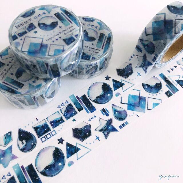 ※図形×星空マスキングテープ[90-80]