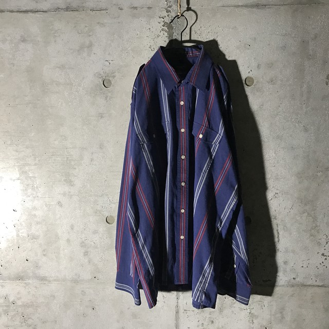 [Christian Dior] rare design striped shirt