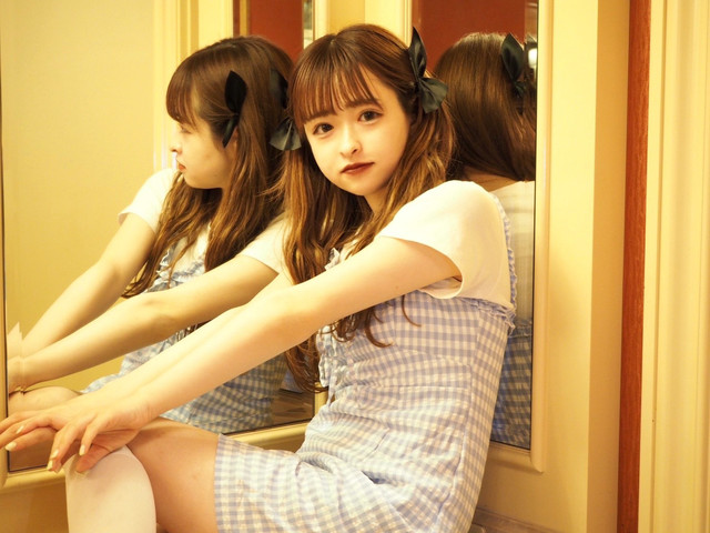 【Renonqle】gingham camisole  one-piece