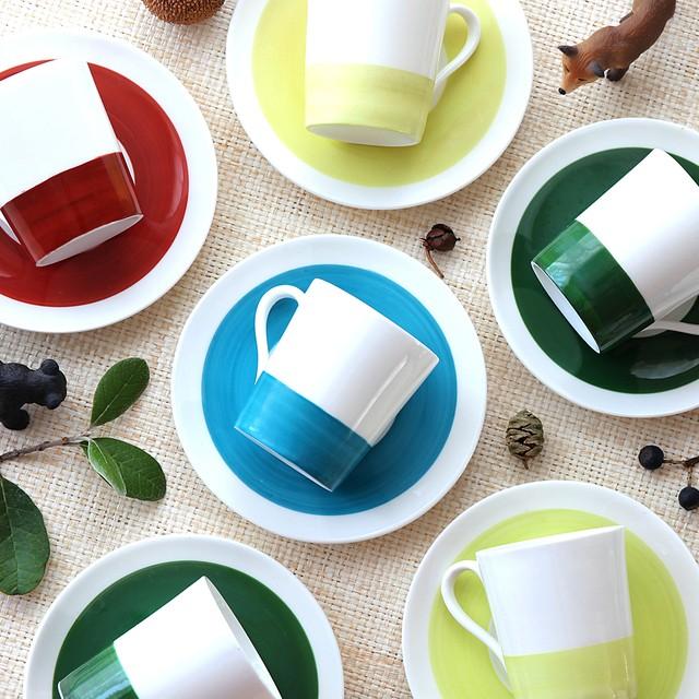 Gustavsberg  グスタフスベリ Color カラー デミタスコーヒーカップ&ソーサー(イエロー)北欧ヴィンテージ