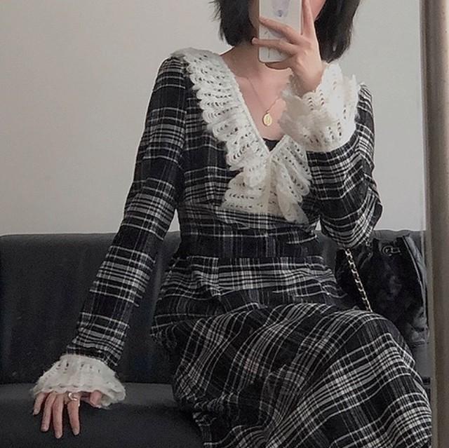 french check dress