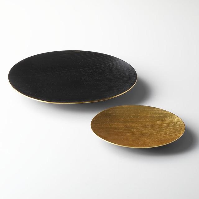 うすびきディッシュ2枚セット Usubiki Dish set- GOLD and Surface GOLD