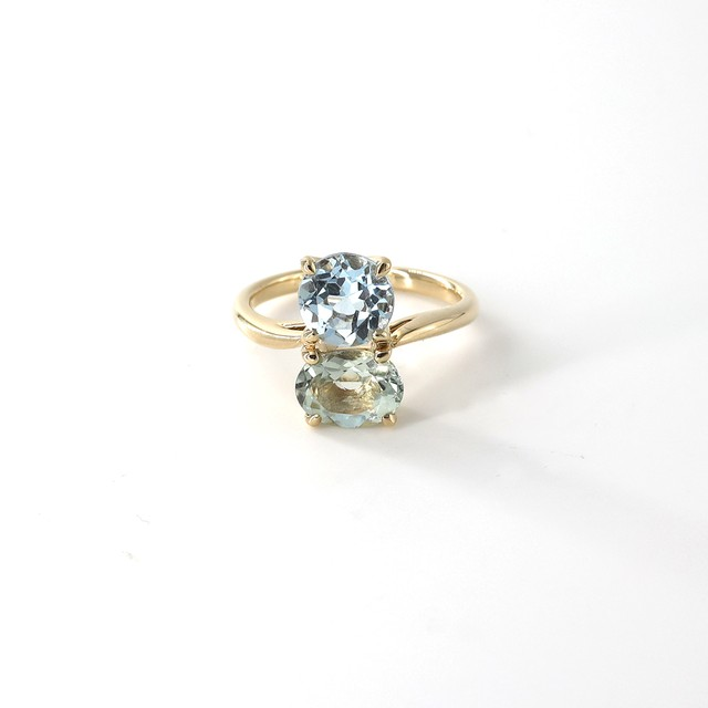Muse 2 Stones Ring S