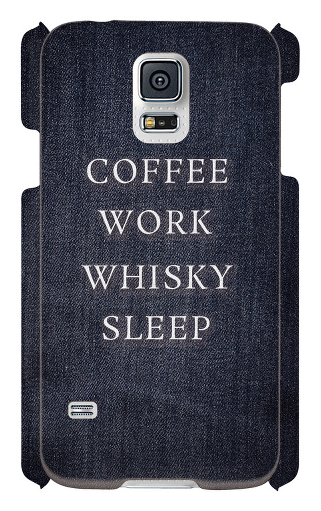 COFFEE WORK WHISKY SLEEP -Galaxy S5 SC-04F/SCL23-