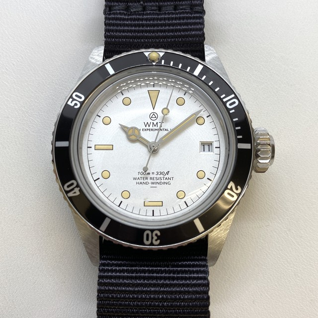 W.MT WATCH SEA DIVER FROGMAN WHITE DIVER (ハックなし) WMT038-01
