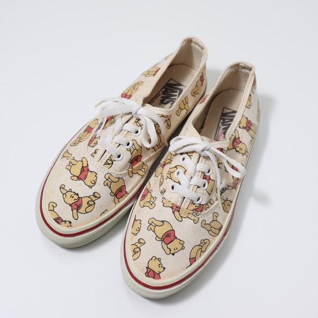 90s【VANS × Disney】Authentic Sneaker  Dead Stock ヴァンズ ×くまのプーさん 90年代 アメリカ製  A756