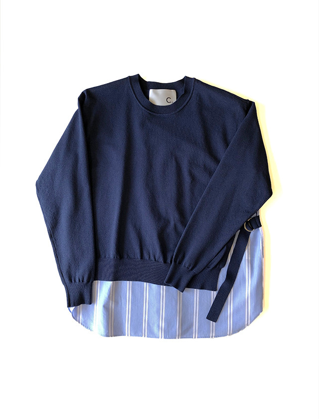 Knit shirt pullover Blue / C+