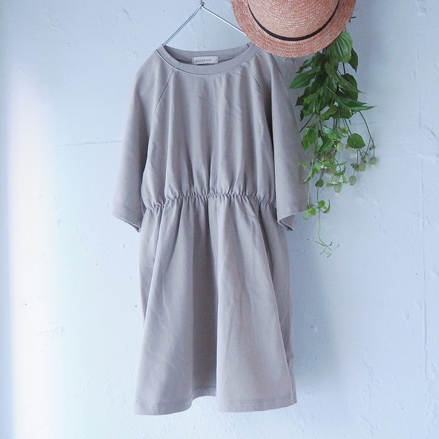 [即納][sale] raglan-sleeve cotton dress