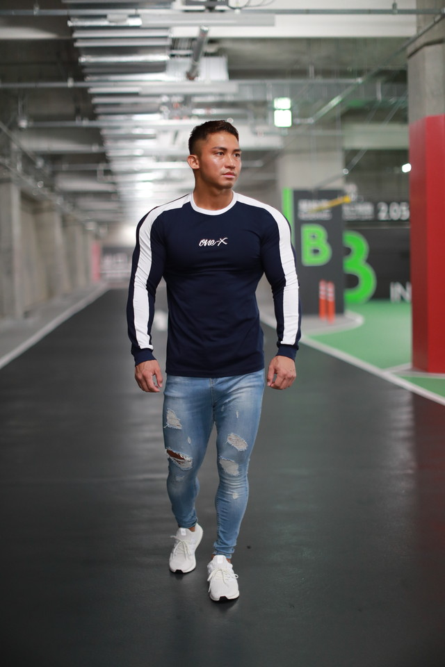 ONE-X LATERAL LINE LONG SLEEVE T-SHIRT NAVY