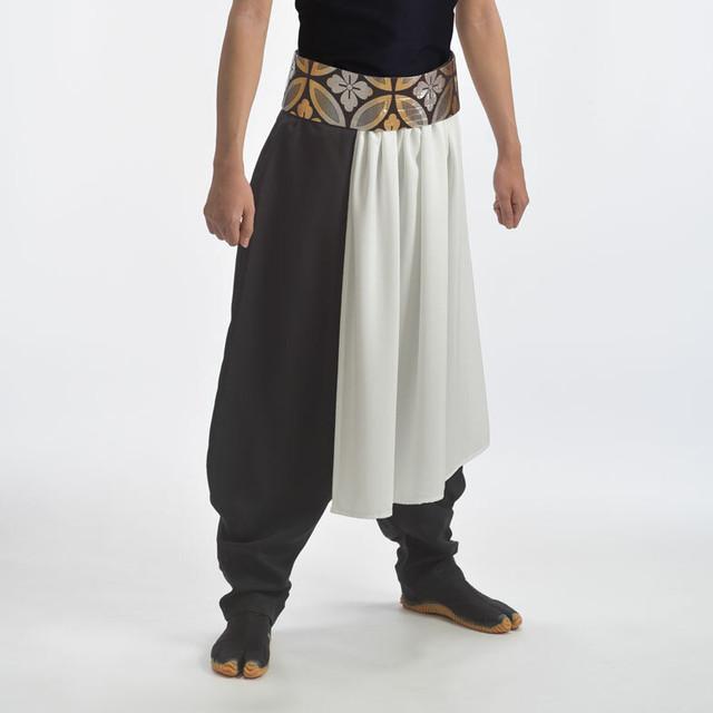 【在庫限り】腰巻セット ワンタッチ帯×腰巻 白 ポリエステル 日本製 よさこい衣装 太鼓衣装