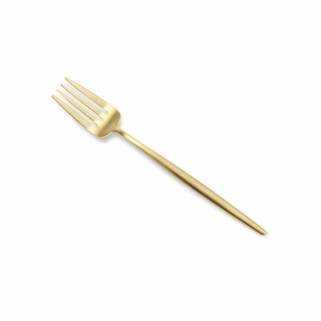 ※12本入 クチポール(Cutipol) MOON MATT/ムーンマット ゴールド デザートフォーク20%off