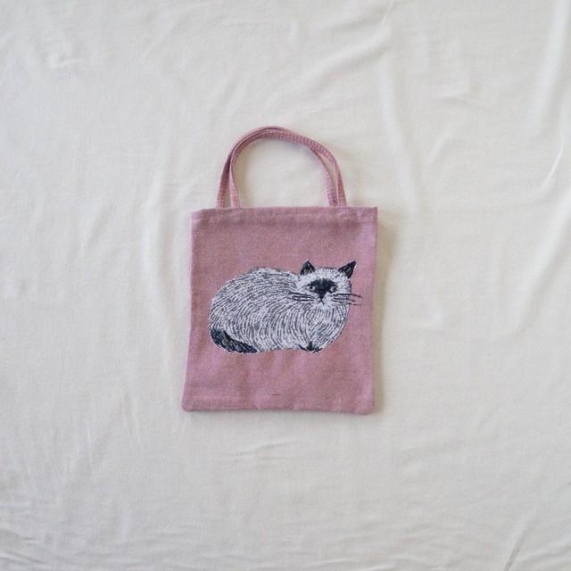 松尾ミユキ Mini Tote (furry cat)