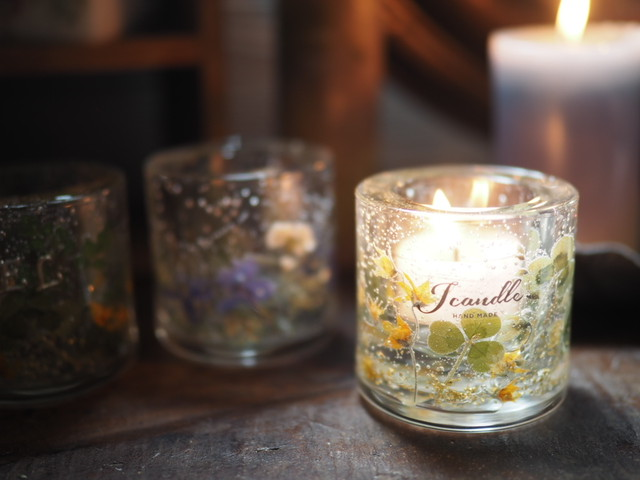 Pressed Flowers Candle Holder 10
