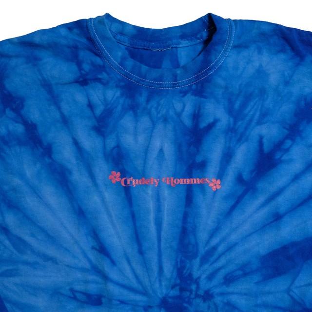 【Crudely Hommes】Tie-dye Hippie Logo Long Sleeve