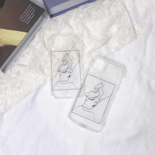 シンプルアート ソフトiPhoneケース