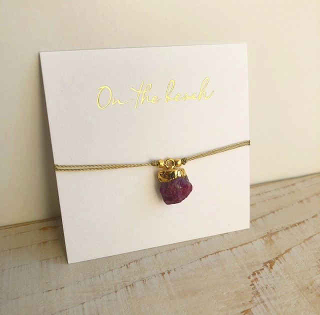 Birth stone bracelet  (Garnet)  /  OBH-39