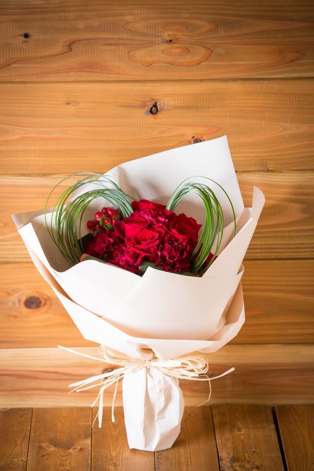 【プレゼントにぴったり】花束/スプレーバラのブーケ(レッド&ピンク)