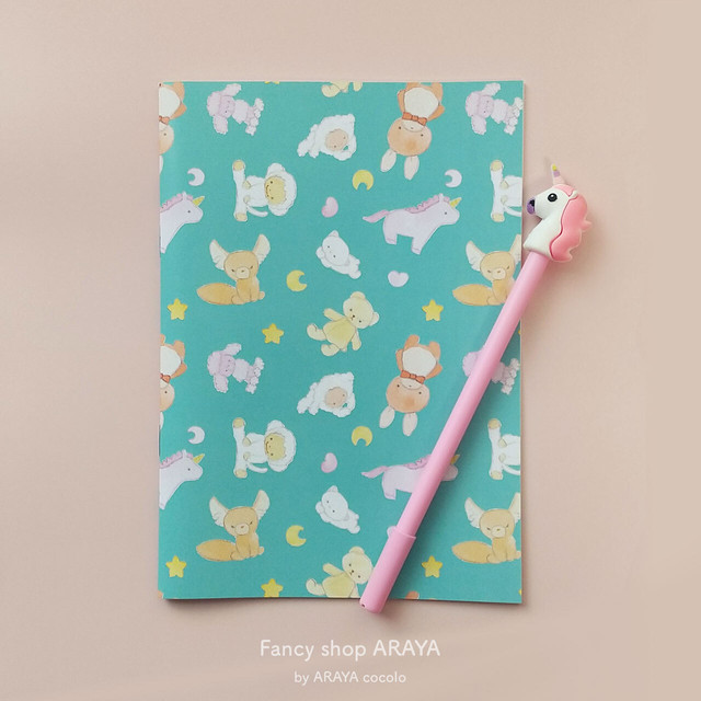 "A5ノート ""Stuffed dreamy animal"" / Note book"