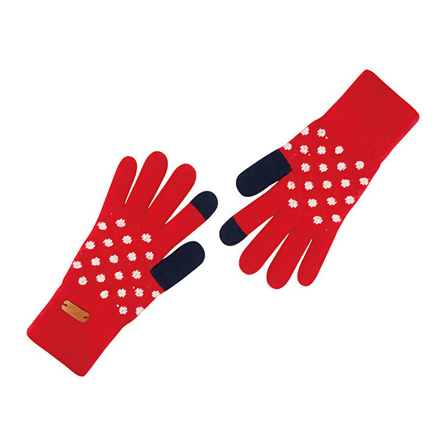 Touch screen gloves - Dancing Dot (RED)