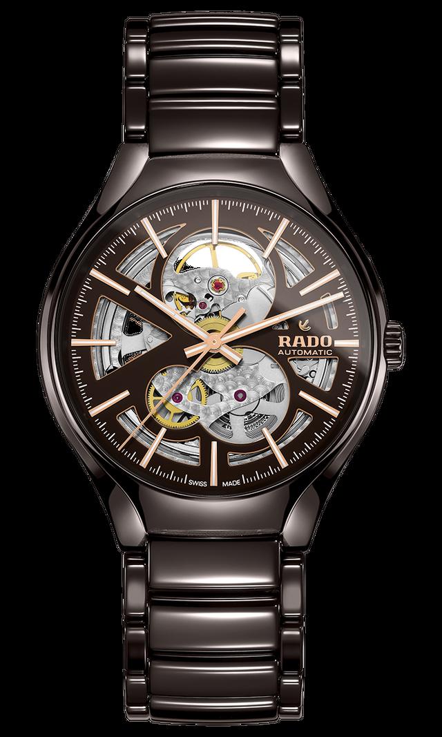 【RADO ラドー】True Open Heart BROWN / トゥルーオープンハート(スケルトン ブラウン)スイスメイド腕時計