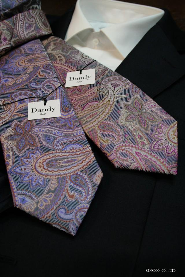 大胆なペイズリー柄のネクタイ(日本製)