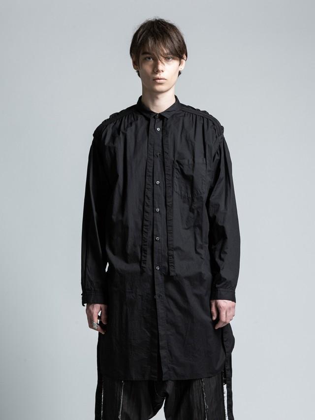 VI-3044-02 / 引き上げギャザー ロングシャツ