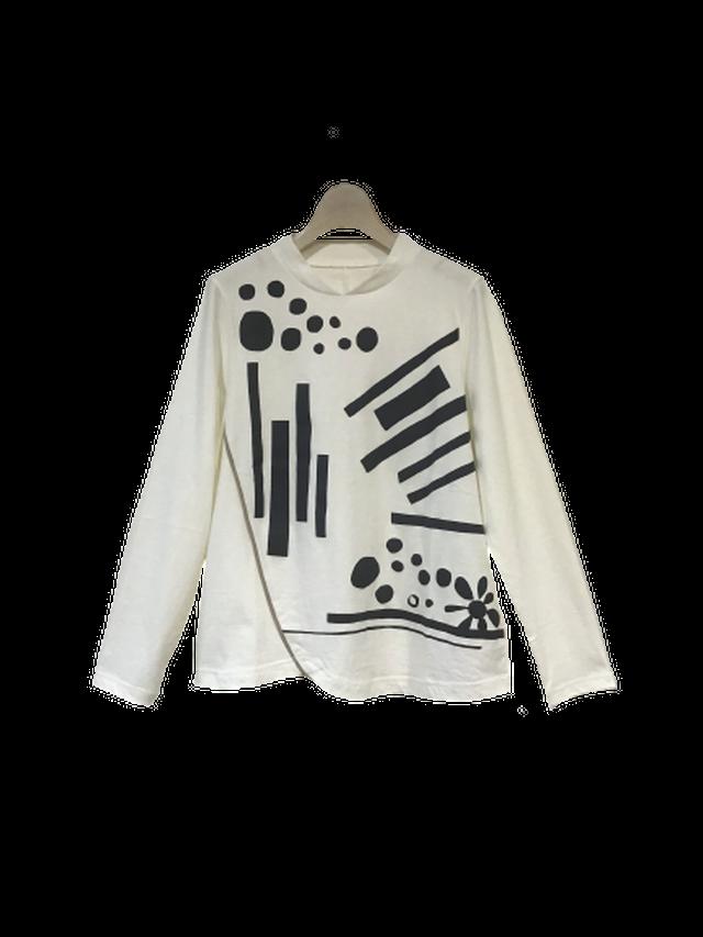 ムービングパターン コンパクトTシャツ【210-3219】