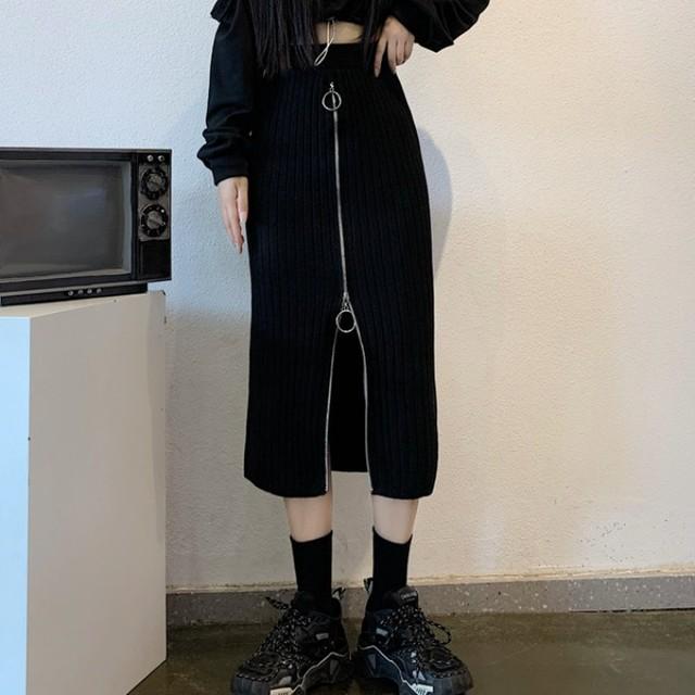 【ボトムス】ファッション膝下丈ハイウエストAラインスカート33900725