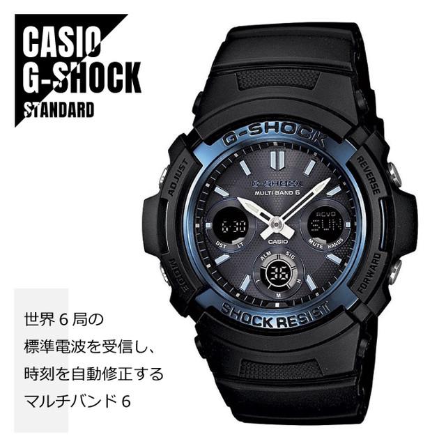 CASIO カシオ G-SHOCK Gショック 電波 マルチバンド6 タフソーラー AWG-M100A-1A ブルー×ブラック 海外モデル 腕時計