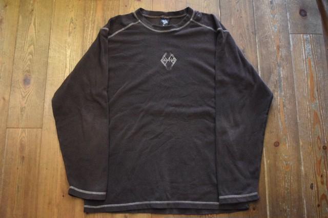 USED USA製 prana L/S フリースシャツ L  ブラウン 90s
