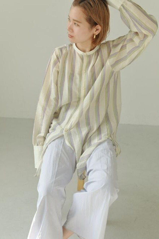 TODAYFUL/トゥデイフル) Multistripe Silk Shirts 21春夏.予約 12110403