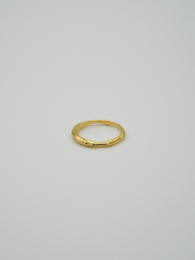 random cut ring gold(再入荷)