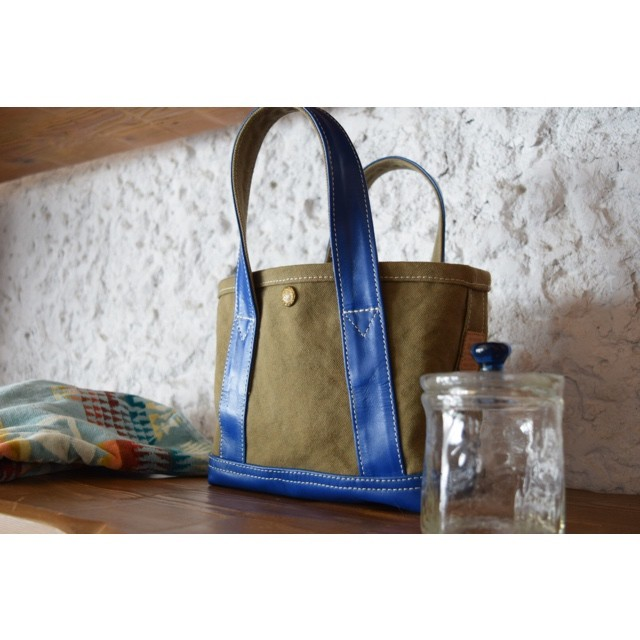 Simva 561-0001 Canvas-Leather Tote Mini 2020SS