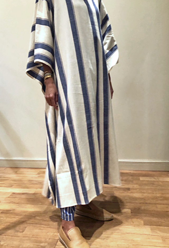 cristaseya   [STRIPED COTTON OVERSIZED CAFTAN]