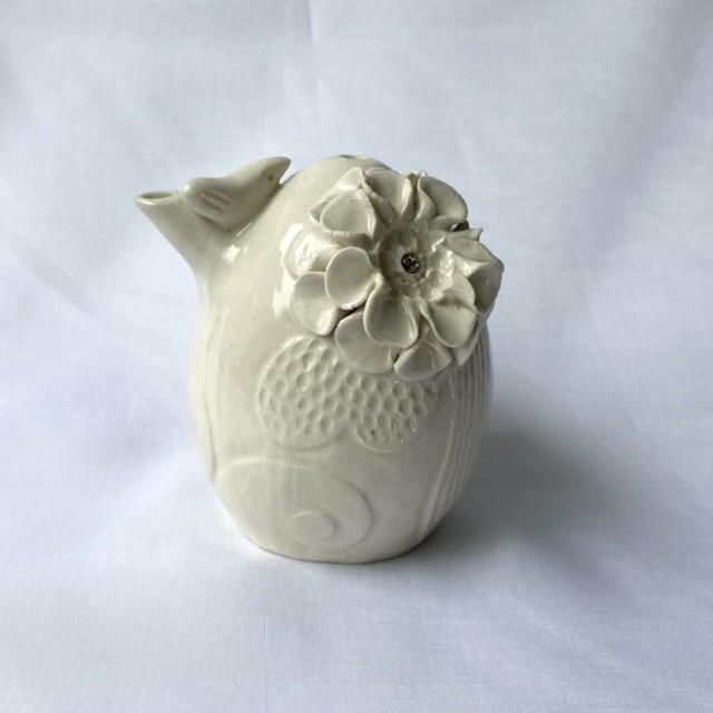 小鳥と白い花 / 水滴/書道/文具